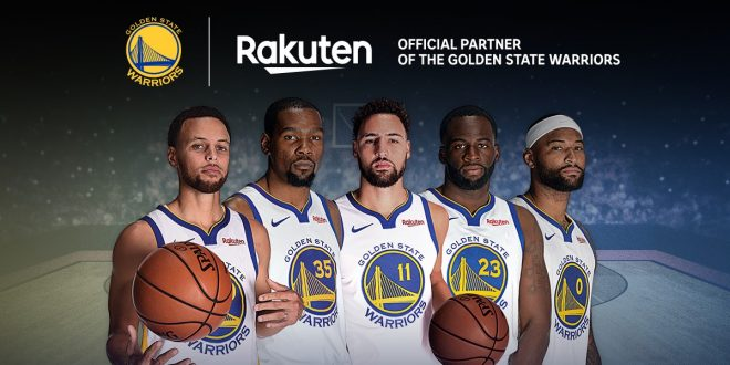 save off d5658 9e7de Rakuten hopes to extend sponsorship of GS Warriors ...